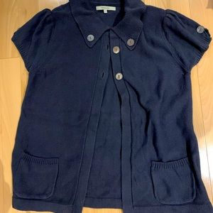 RW & CO short sleeve cardigan button up size L